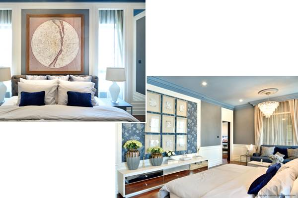 Blue Gray in Bed Room