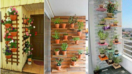 beautiful garden on the wall